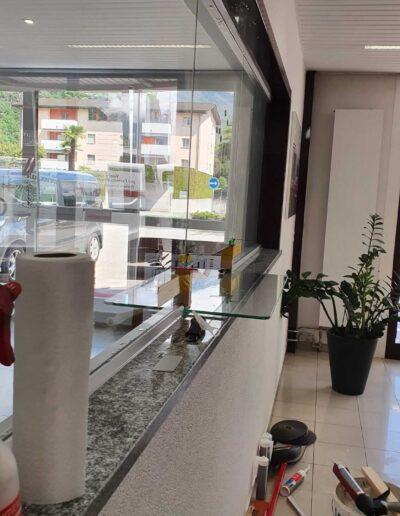 Vetro separatore per reception / accoglienza