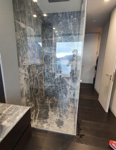 vetro temperato per cabina doccia