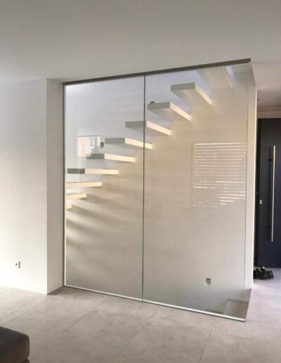 Vetro parete per scale